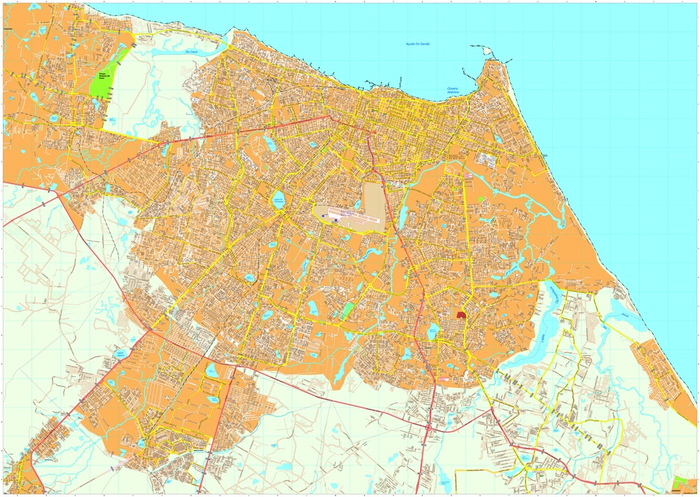 Fortaleza vector map EPS Illustrator Map Our cartographers have