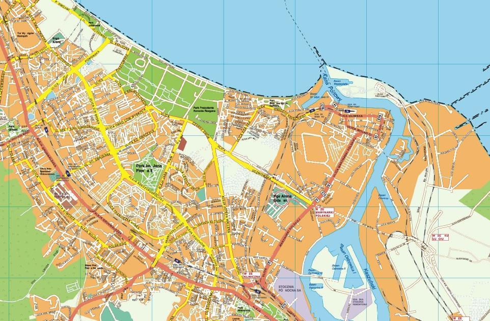 Gdansk EPS map EPS Illustrator Map A vector eps maps designed by