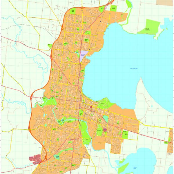 Geelong Vector Maps