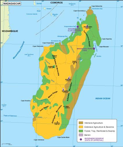 Madagascar Vegetation Map Madagascar vegetation map. EPS Illustrator Map | Vector World Maps
