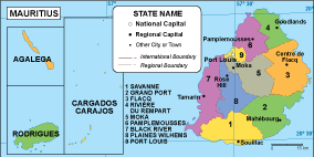 Mauritius EPS map