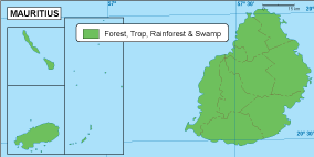 Mauritius vegetation map