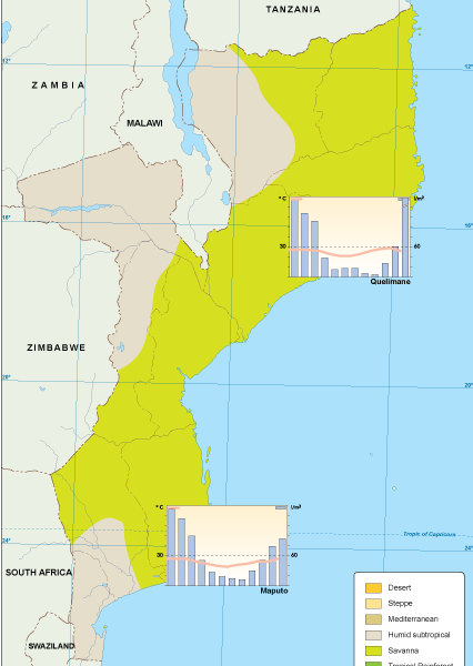 Mozambique climate map