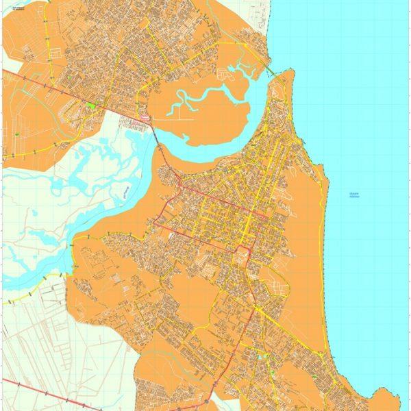 Natal vector map