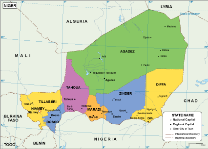 Niger EPS map