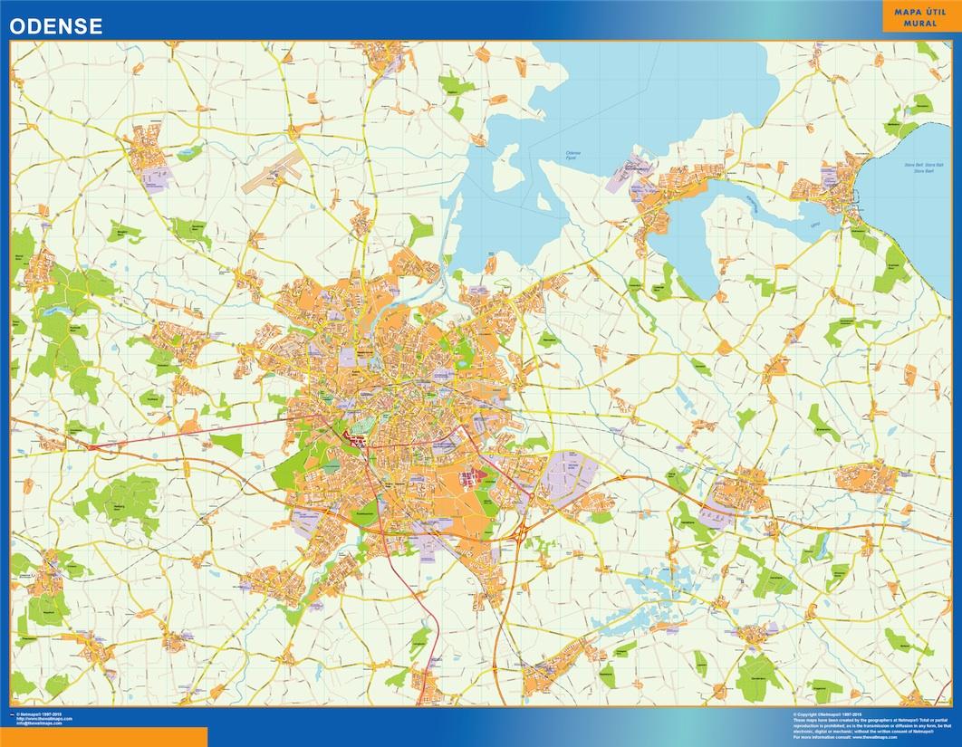 Odense Kort Eps Illustrator Map Vector World Maps