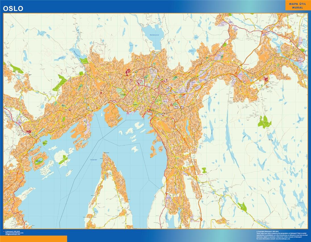 Oslo kart Illustrator Vector Eps maps EPS Illustrator Map Our