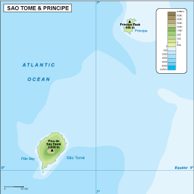 Sao Tome e Principe physical map
