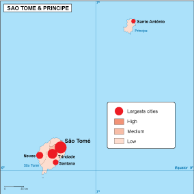 Sao Tome e Principe population map