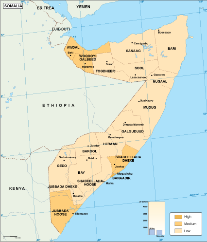 Somalia economic map
