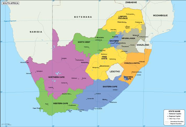 South Africa Eps Map Eps Illustrator Map Vector World Maps