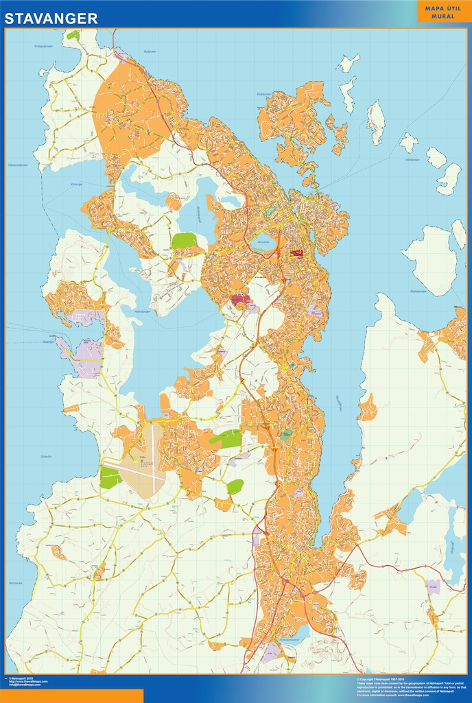 stavanger kart Stavanger kart. Illustrator Vector Eps maps. EPS Illustrator Map