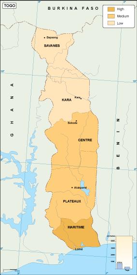 Togo economic map