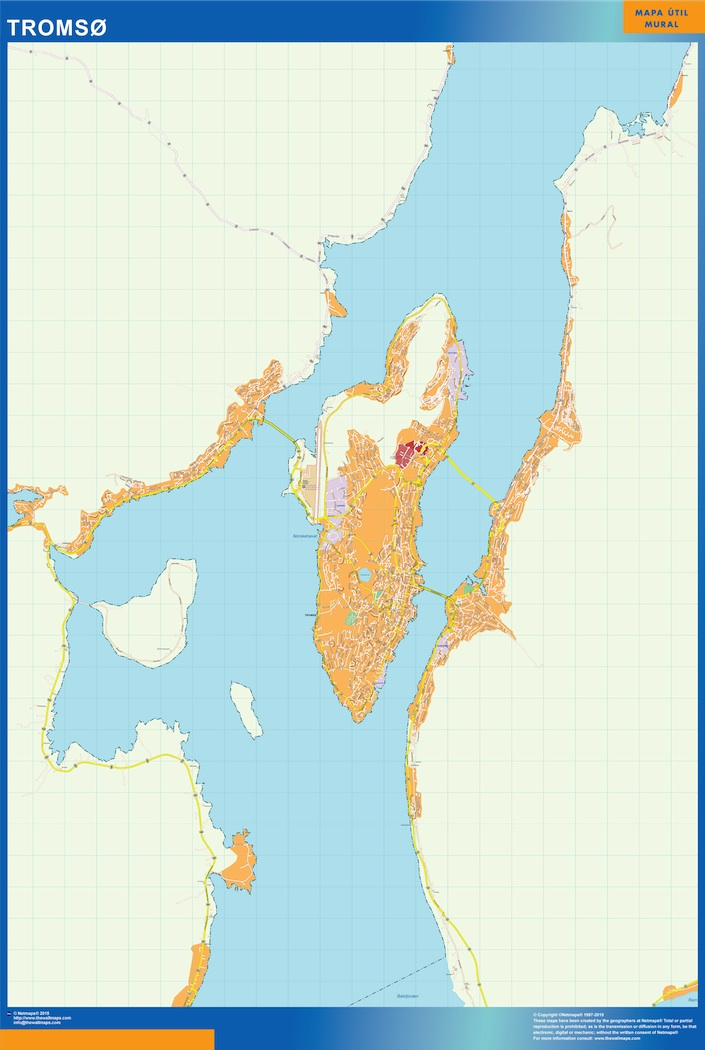 Tromso Kart Illustrator Vector Eps Maps Eps Illustrator Map