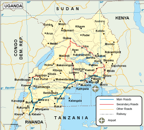 Uganda transportation map