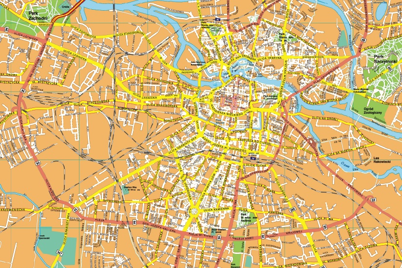 Wroclaw EPS map EPS Illustrator Map Our cartographers have made