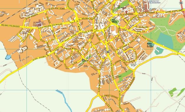 Zielona Gora Map