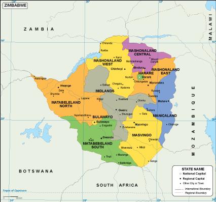 Zimbabwe EPS map. EPS Illustrator Map | Vector World Maps
