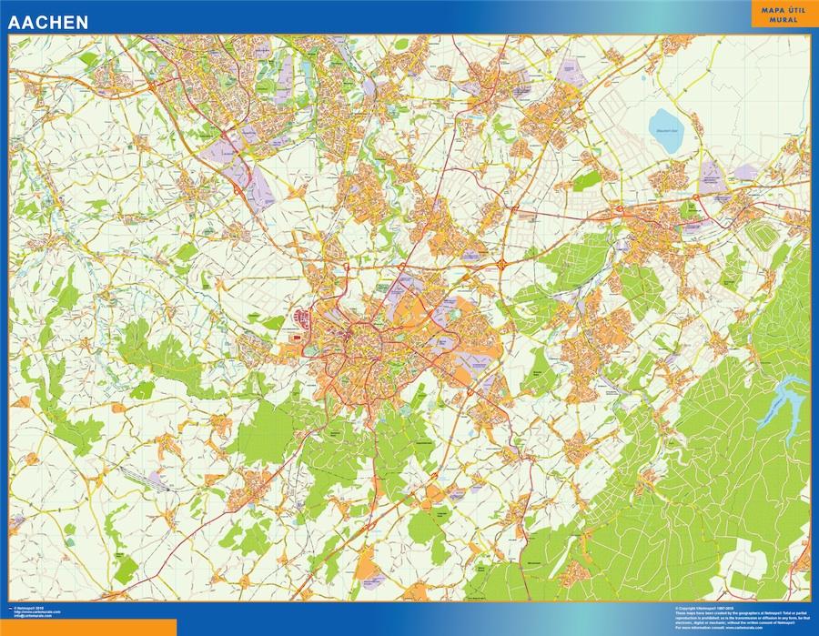 Aachen Karte Illustrator Eps Illustrator Map Vector World Maps