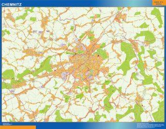 Karte Chemnitz.Chemnitz Karte Illustrator