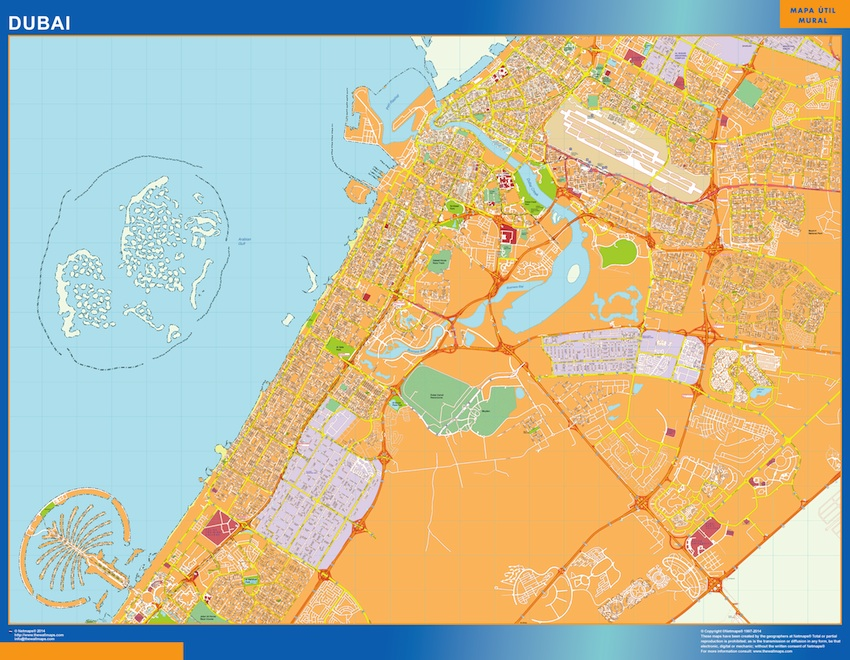 Map Of Asia Dubai.Dubai Vector Map