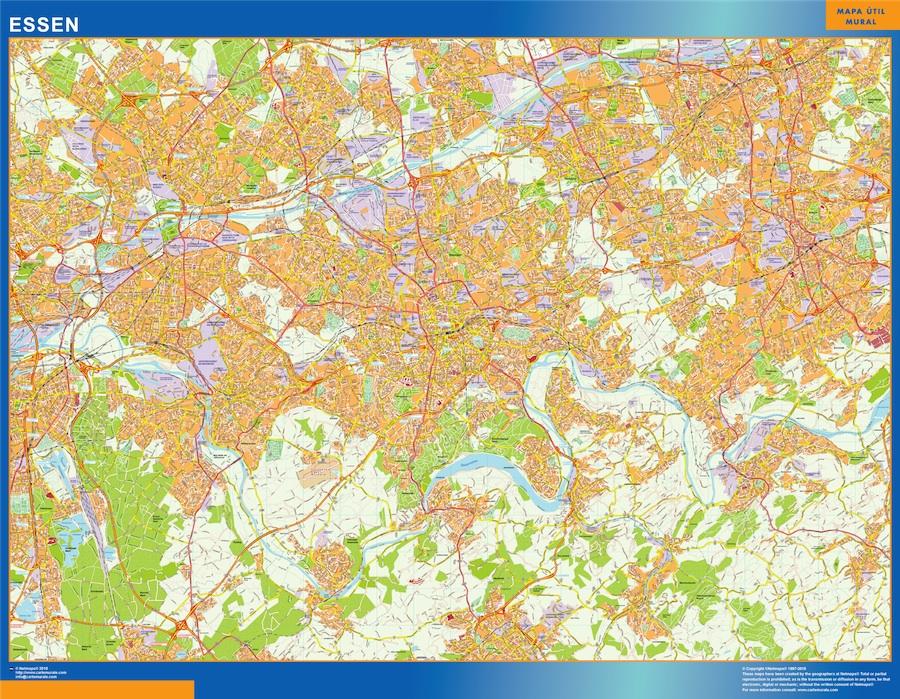 Karte Essen.Essen Karte Illustrator