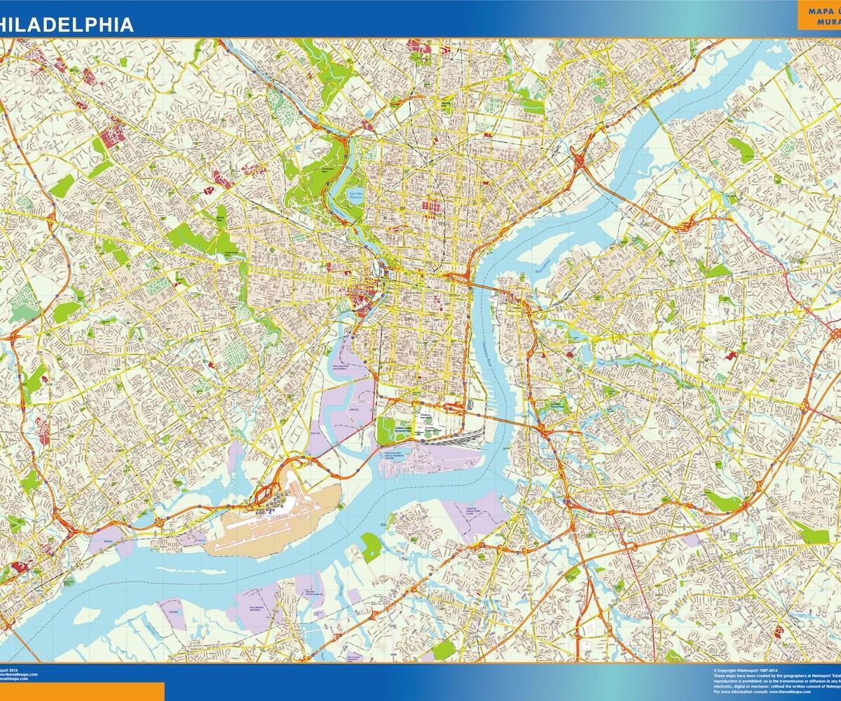 Philadelphia Vector Map Eps Illustrator Vector City Maps USA - Philadelphia capital of us origanal map