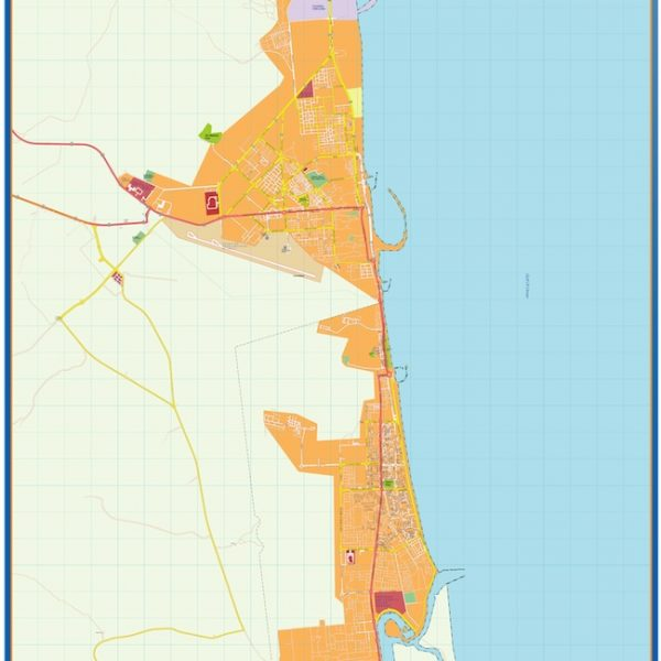 fujairah vector map