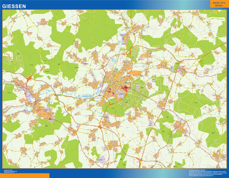 Giessen Karte Illustrator Eps Illustrator Map Vector World Maps