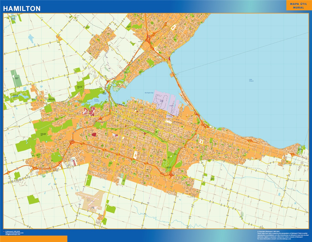 hamilton vector map Eps Illustrator Map Our cartographers have