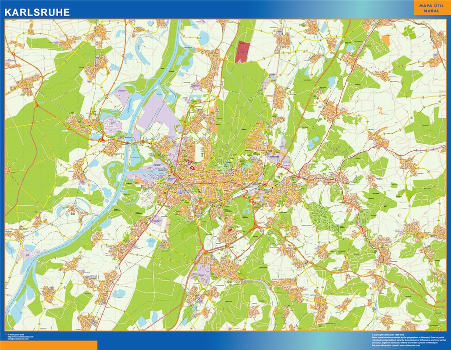 Karlsruhe Karte.Karlsruhe Karte Illustrator