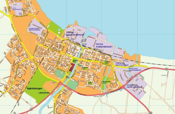 Karta Lidkoping Eps Illustrator Map Vector World Maps