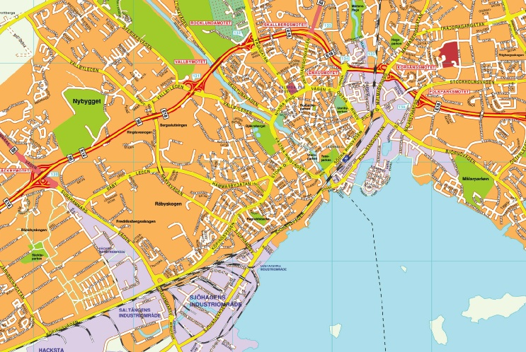 Karta Vasteras Eps Illustrator Map Vector World Maps