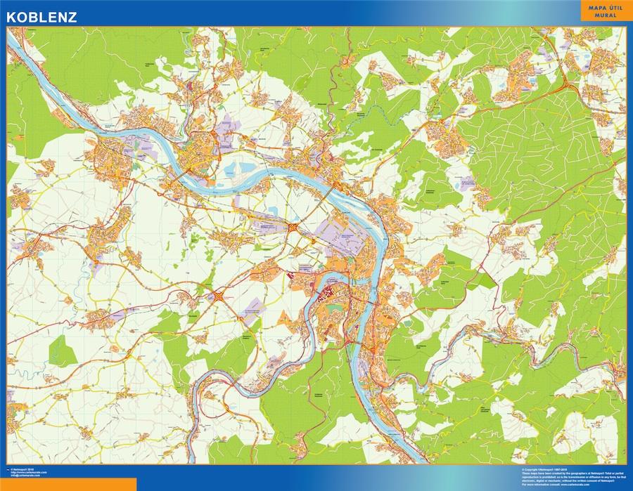 Karte Koblenz.Koblenz Karte Illustrator