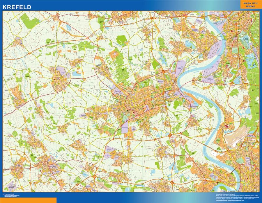 Krefeld Karte.Krefeld Karte Illustrator