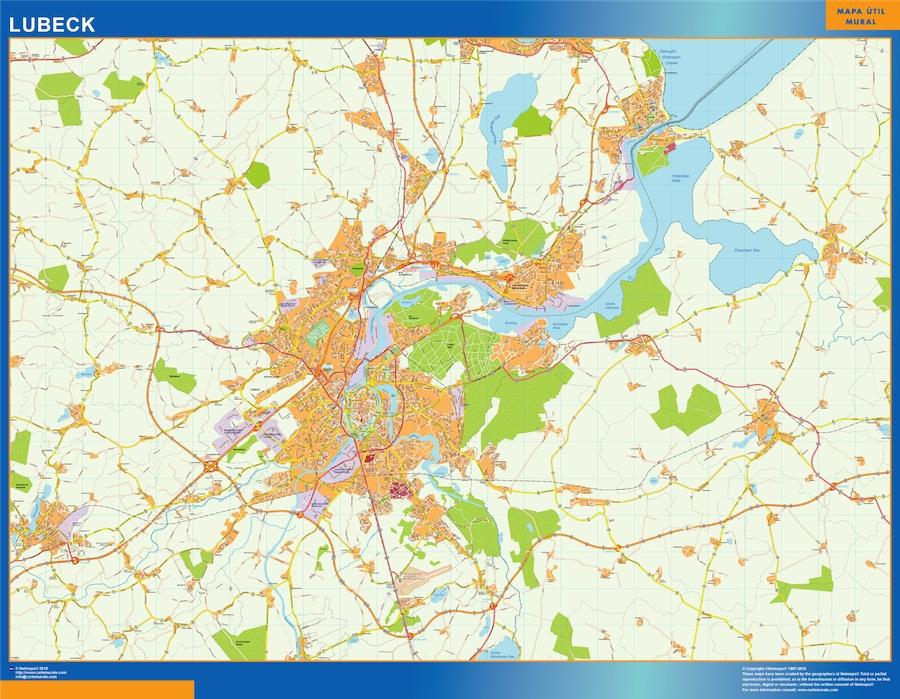 Karte Lübeck.Lubeck Karte Illustrator