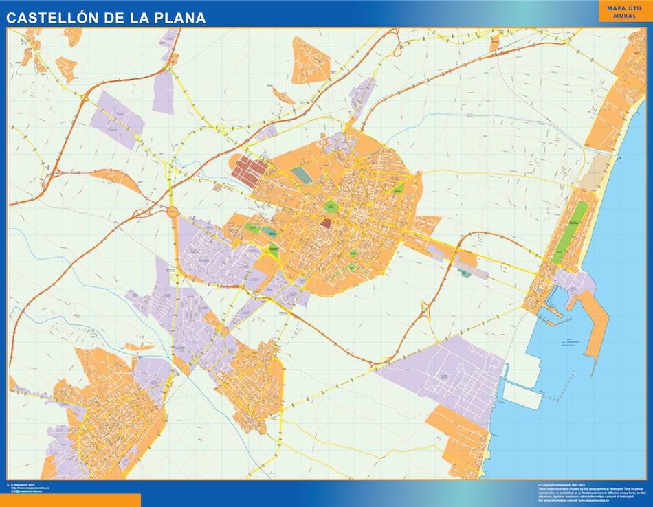 Mapa Vectorial Castellon De La Plana Eps Illustrator Map Vector