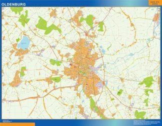 Oldenburg Karte Illustrator Eps Illustrator Map Vector World Maps
