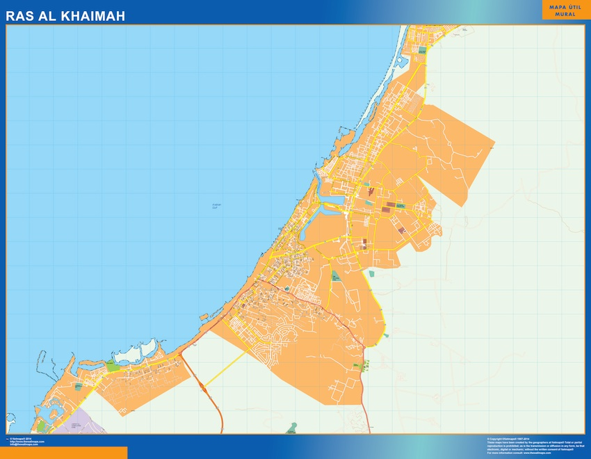 ras al khaimah vector map EPS Illustrator Vector Maps of Asia