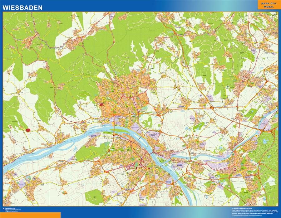 Wiesbaden Karte.Wiesbaden Karte Illustrator