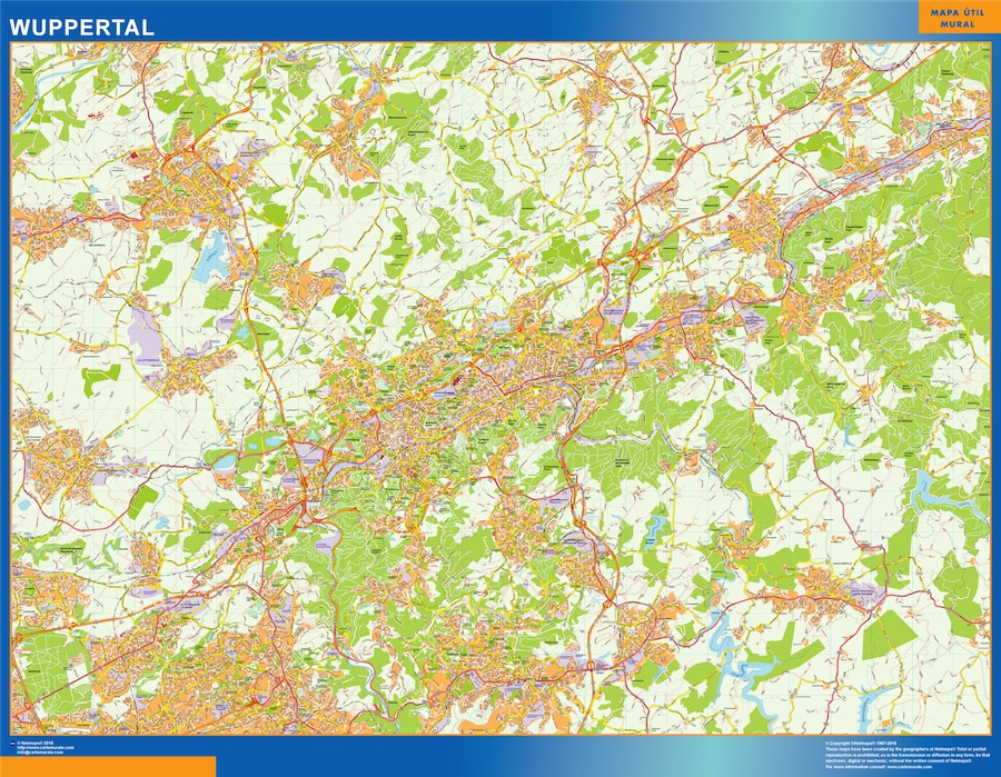 Wuppertal Karte Illustrator Eps Illustrator Map Vector World Maps