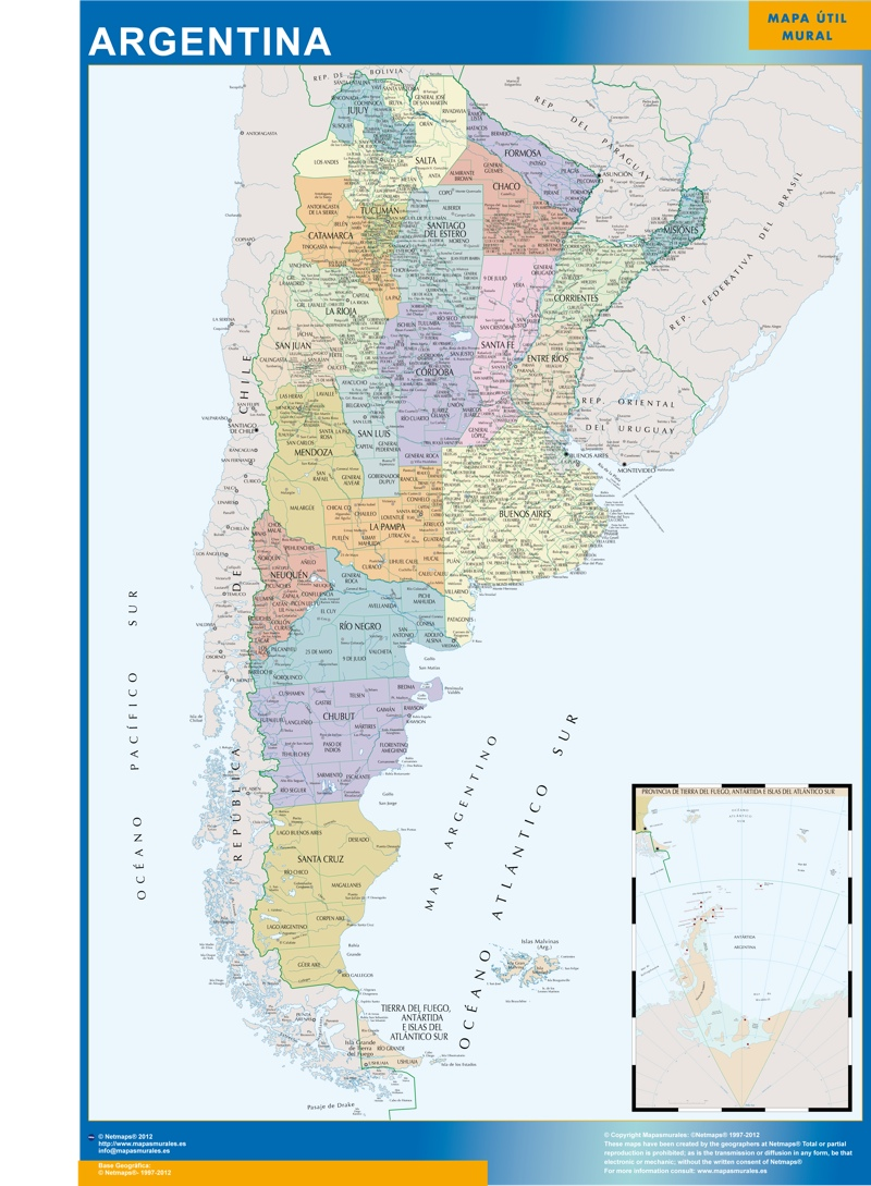 Wall Map Argentina Our Cartographers Have Made Wall Map - Argentina map download