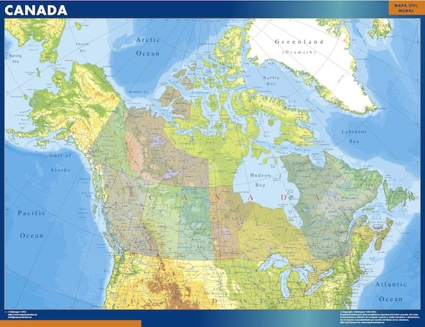 wall map canada