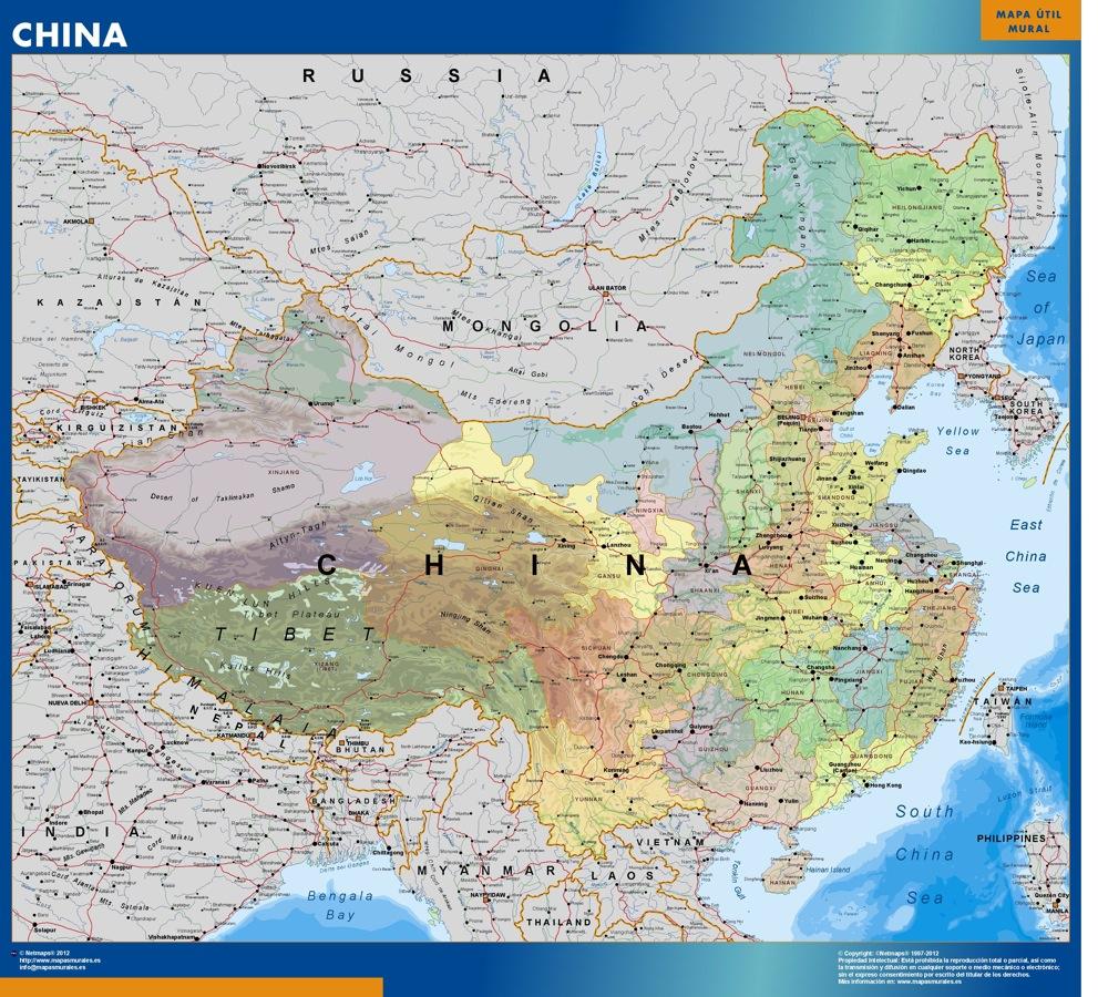 wall map china | Vector World Maps