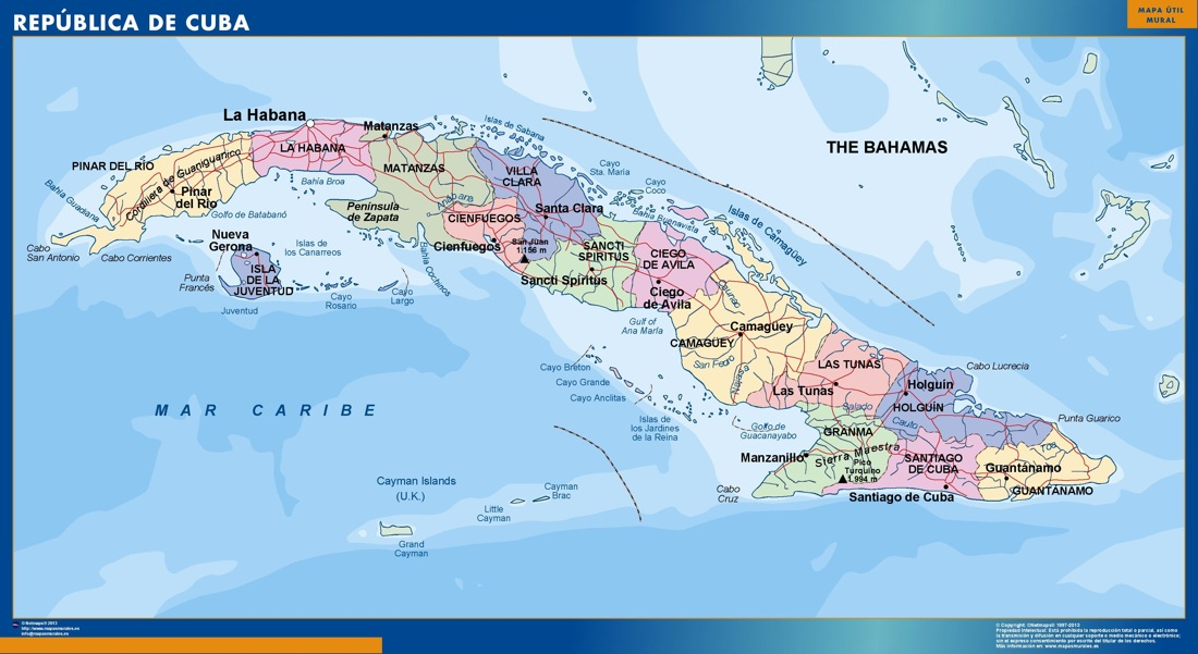 wall map cuba | Vector World Maps