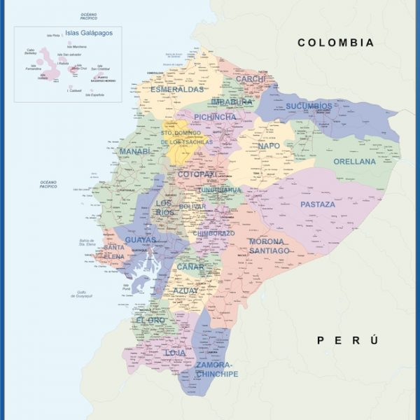 wall map ecuador
