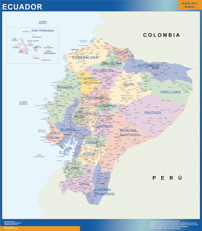 wall map ecuador Our cartographers have made wall map ecuador as