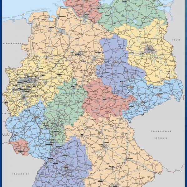 wall map germany
