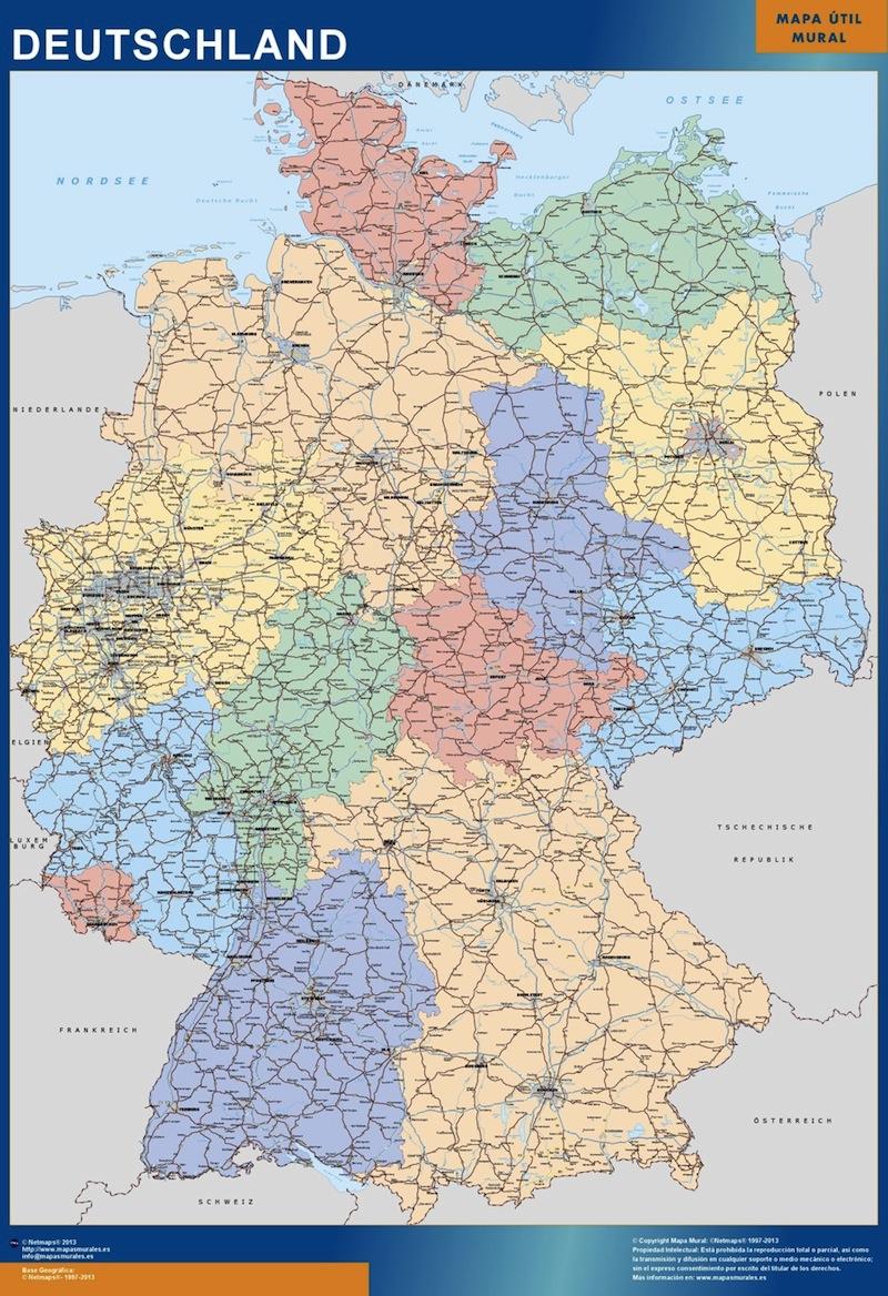 wall map germany