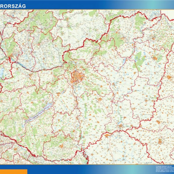 wall map hungary